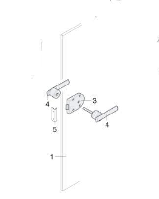 Zamek Do łazienki Mechanizm